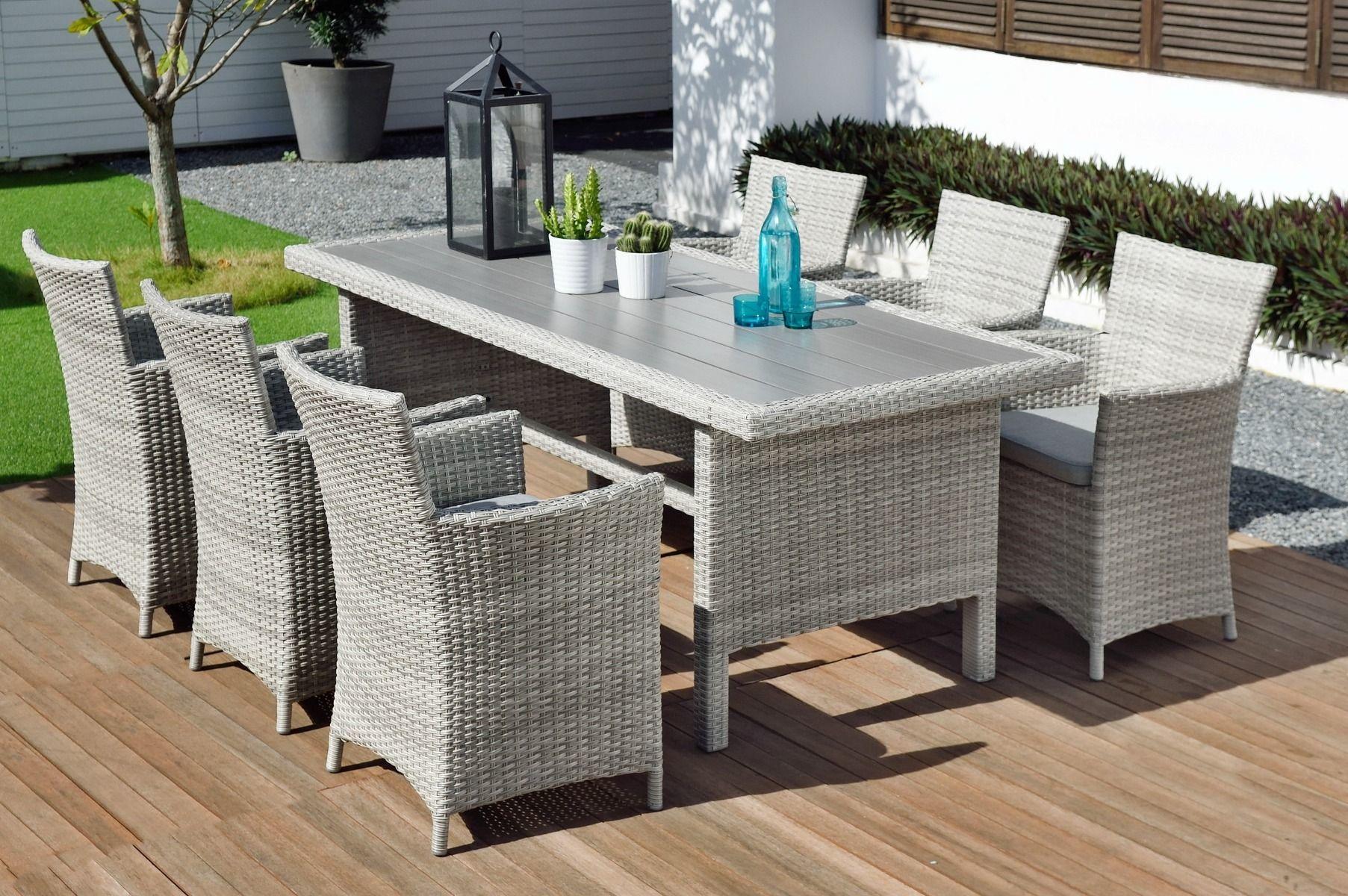 Lifestylegarden Aruba 6 Seat Dining Rectangle Table