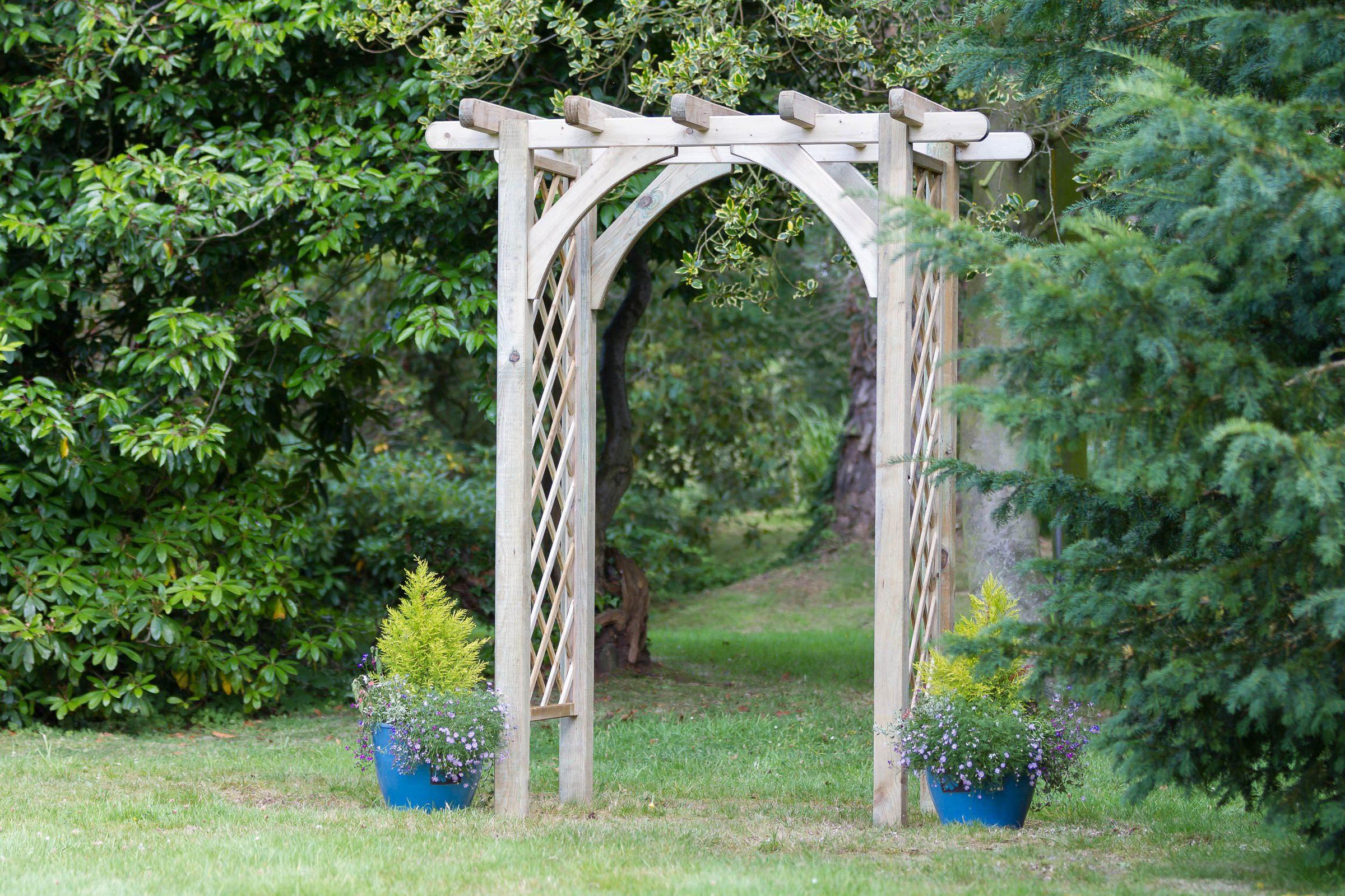 Arches arbors obelisks trellis norwich camping - Garden wood arches ...