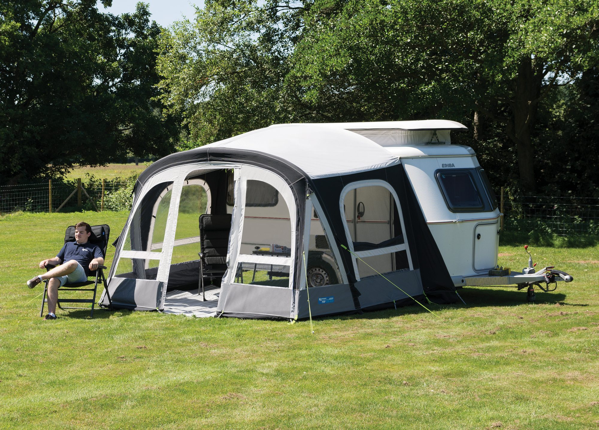 Kampa Pop Air Pro 340 Eriba Caravan Porch Awning