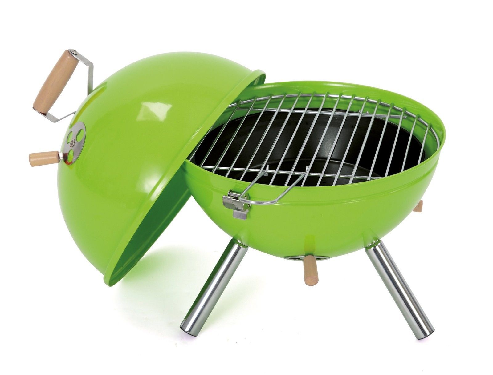 tepro crystal mini kettle barbecue apple green portable bbqs norwich camping. Black Bedroom Furniture Sets. Home Design Ideas