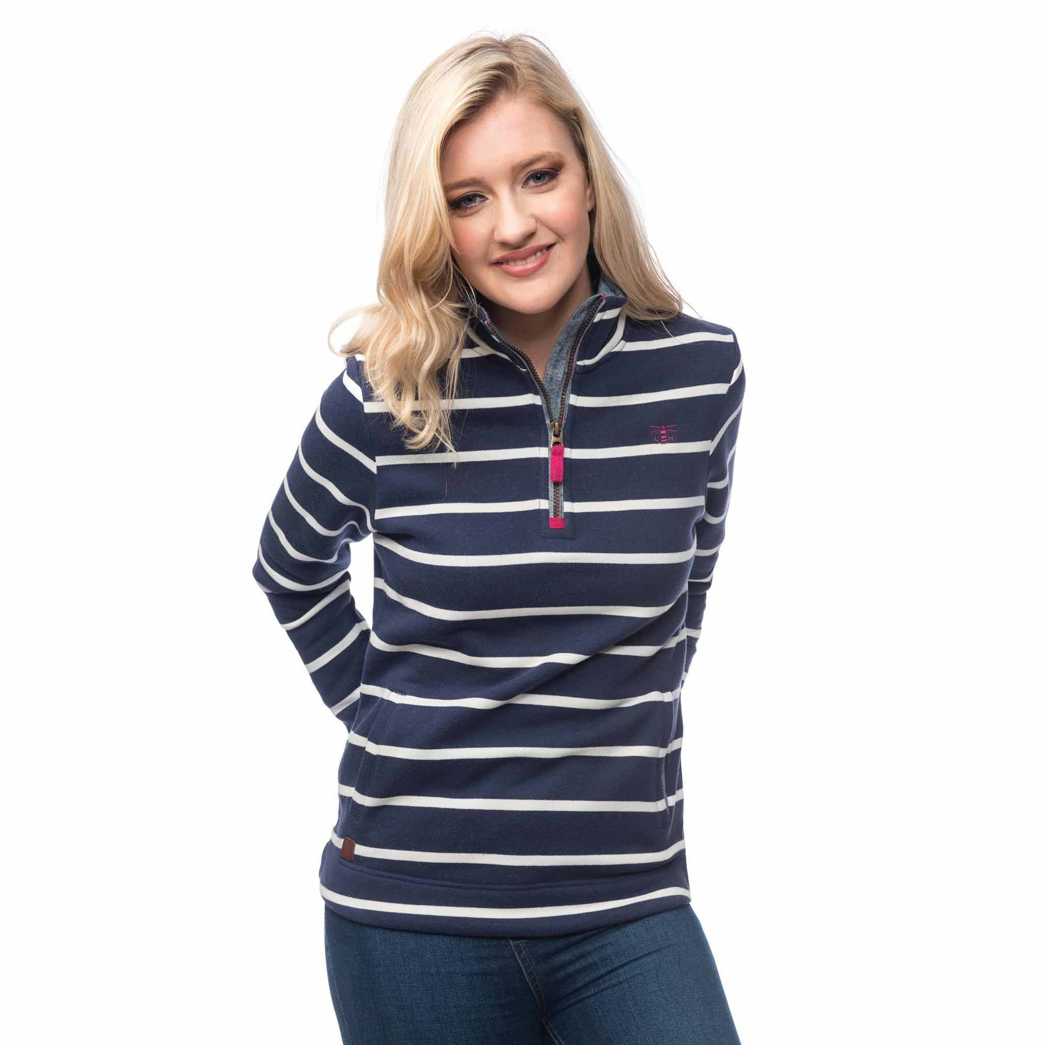 Skye Half Zip Cotton Sweatshirt
