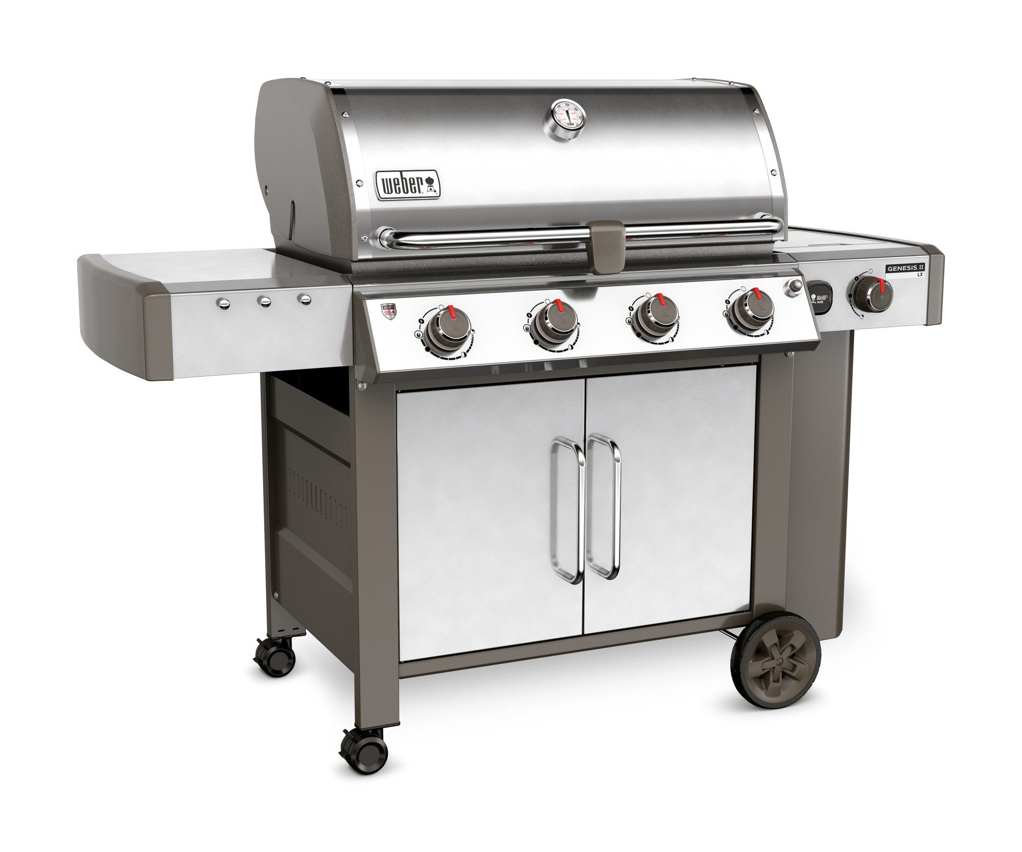 The entire line of Weber® grill products outperform and outlast many of their competitors. Anyone who has ever owned a Weber grill knows they are beautiful, high quality products that are built to last. Weber® gas grills come with durable stainless-steel burners, a thick-walled cast-aluminum cooking box, a rugged robot-welded steel cart, and porcelain-enameled or stainless steel lid.