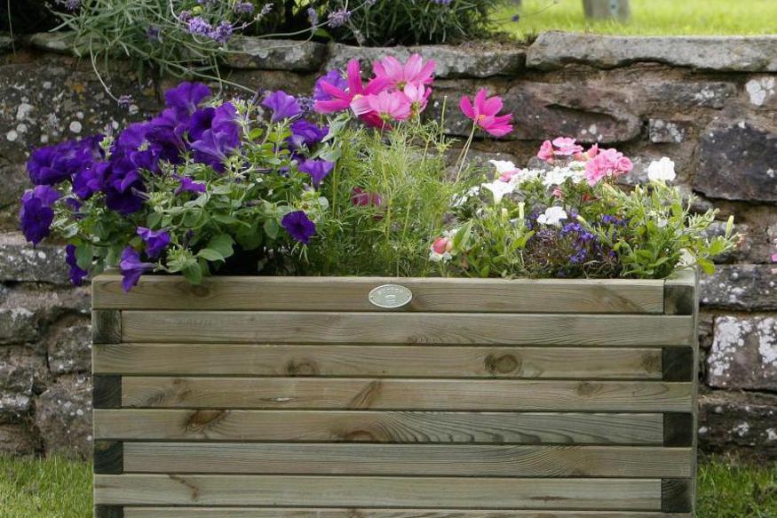 Hutton Rectangular Planter Large   Norwich Camping on vermont garden, newcastle garden, amsterdam garden, paris garden,