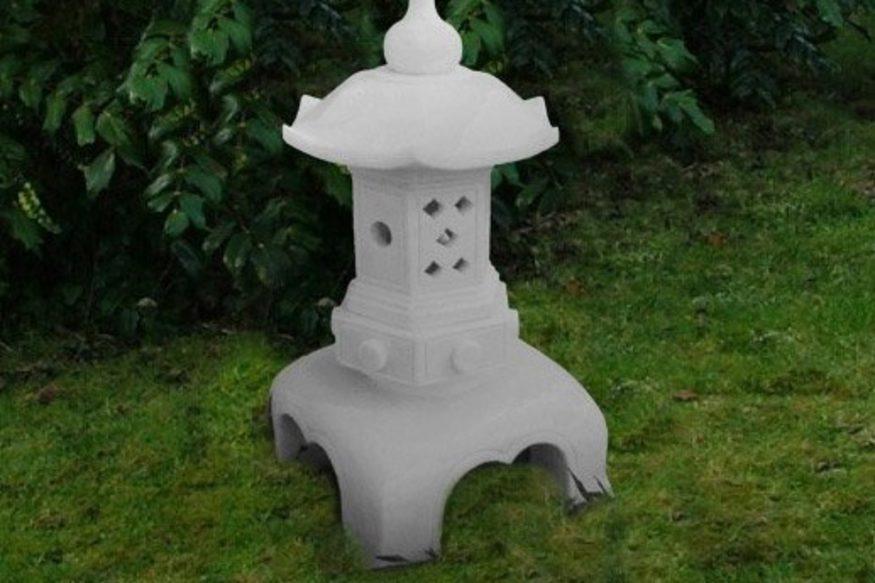 Enigma Oriental Lantern White, Oriental Stone Garden Lanterns