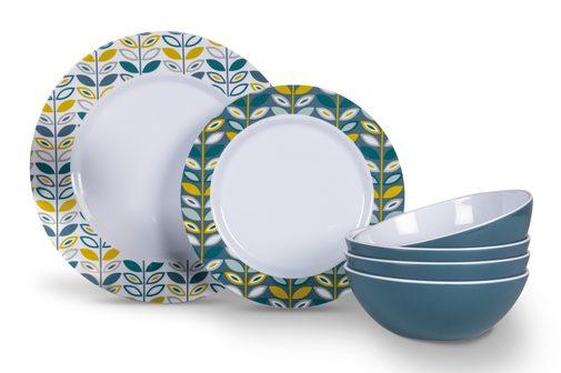 Plastic Kampa Salad Bowl Seraph Vivid Blue Melamine