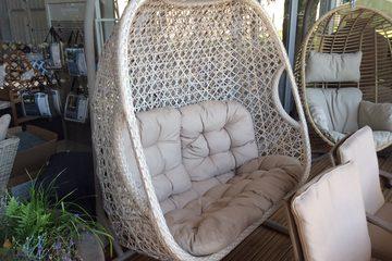 Bramblecrest Ascot Double Hanging Cocoon Chair Butterscotch Garden Furniture Norwich Camping