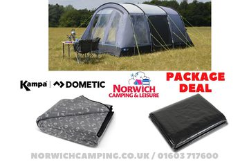Kampa Texel 4 Poled Tent Package Deal 2019 | Tents | Norwich