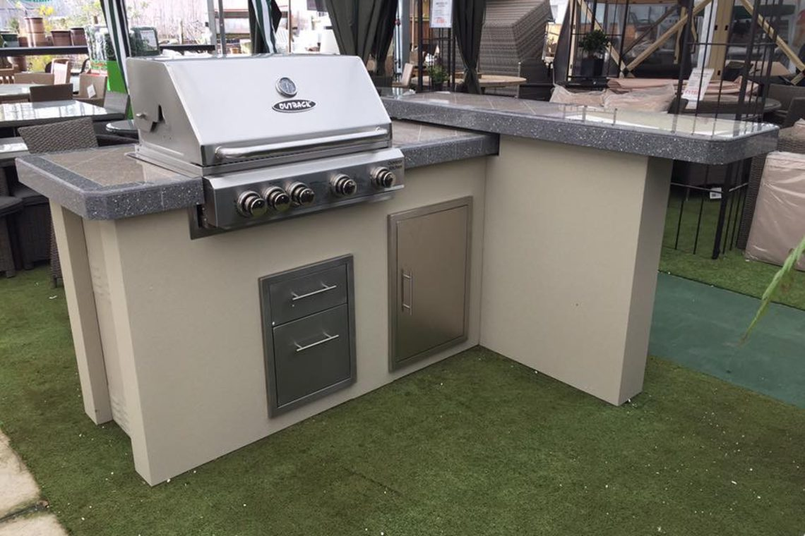 Outback Outdoor Kitchen With 4 Burner Stainless Steel Bbq Bbq